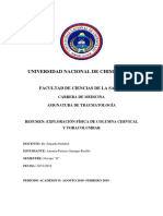 Resumen Exploracion Fisica de Columna Cervical y Toracolumbar