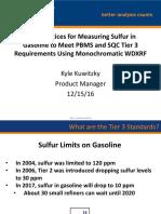 XOS Best Practices for Tier 3 Sulphur