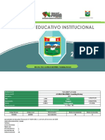 Proyecto Educativo Institucional 2019 AYCHANA
