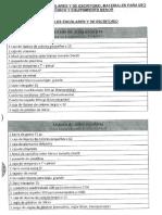 Listado de Utiles Escolares y de Escritorio Materiales Para Uso Pedagogico y Equipamiento Menor