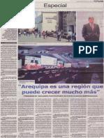 Arequipa es una región que puede crecer mucho más (Gonzalo Aguirre)