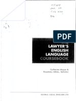 The Lawyers English Language Coursebook