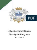 Lokalni Energetski Plan Glavnog Grada Podgorice 2015-2025