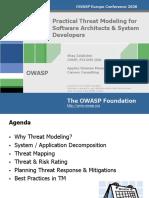 AppSecEU08 Threat Modeling AppSecEU08 v 9 2