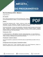 Conteúdo Programático - Revit Architecture 2016 - Módulo I.pdf