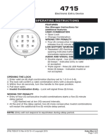 Lagard 4715 Electronic Entry Device User Operating Instructions
