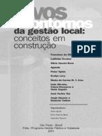 Livro - Novos contornos da gestão local - conceitos em construção