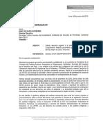 Oficio de la C. de Pueblos a la Secretaría de Asuntos de Cumplimiento de Ambiental del Acuerdo de Promoción Comercial Perú-EEUU