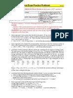 ST350 NCSU Practice Problems Final Exam