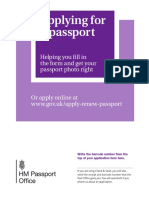 Brtish Passport Guidance Booklet