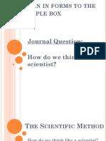 scientific method - ppt