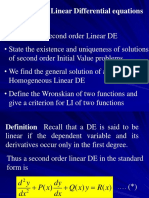 Lec 4 Second Order Linear Differential Equations