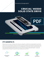 Crucial Mx500 SSD Product flyer