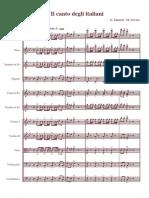 Inno di Mameli partitura orchestra