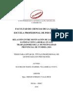 Motivacion Satisfaccion Laboral Villarreal Cueva Maria Maribel