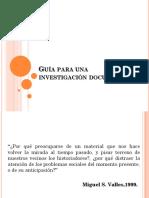 Guia Para Investigacion Documental