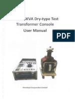 Manual Test transformer console .pdf