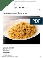 Yakimeshi - Orez Prăjit În Stil Japonez - Retete Culinare - Romanesti Si Din Bucataria Internationala