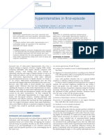 Whitematter Hyperintensities in Firstepisode Psychosis