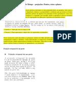 04 - Método de Monge - Projeções - Pontos - Retas e Planos