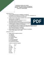 Ejercicios Cap1 - Lenguajes y Compiladores