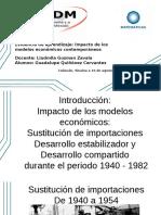 Impacto de Los Modelos Económicos Contemporáneos