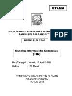 2-Soal Usbn Tik 2018 - Utama