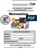 6-ERAI-Matematica Sexto Grado Primaria
