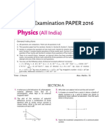 Arihant Class12 Physics All India Solved Paper 2016