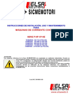 SICMEMOTORI NP80-800 MaintenanceManual DCMotors ES
