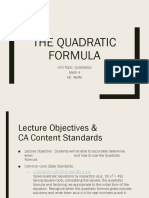 the quadratic formula presentation