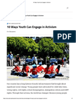 10 Ways Youth Can Engage in Activism