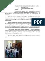 Sample of Accomplishment Report