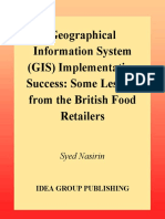 Geographical Information System (GIS) Implementation Success_ Some Lessons From the British Food Retailers