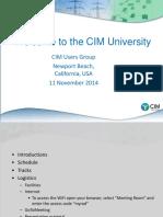 CIM U OC Introduction - Track1