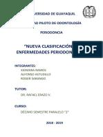 Nueva Clasificacion de Enfermedades Periodontales