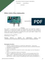 Nabuco Eletrônica - Filtro Ativo Para Subwoofer - Nabuco Eletrônica