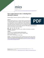 Zero-coupon Interest Rates Evaluating Three Alternative Datasets