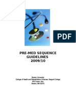Hp 150 Premed Course Guidelines