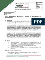 PRACTICA Nº1 Bioseguridad, Materiales y Equipos de Laboratorio