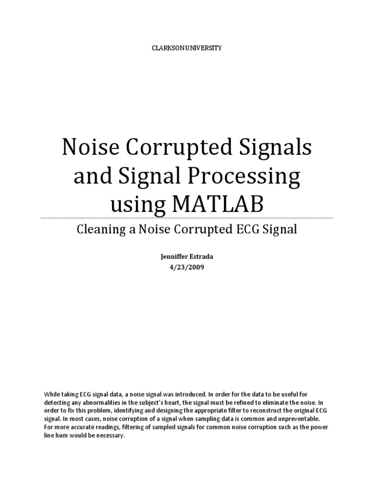 Signal Processing Using MATLAB | Filter (Signal Processing