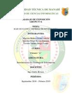 GRUPO 4 - Base de Datos y Sistemas de Información - Sistemas de Información