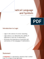 1-II Mathematical Languages and Symbols (2 of 2)