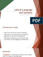 1-II Mathematical Languages and Symbols (2 of 2)