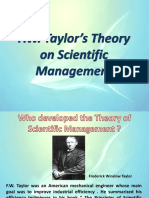 Theory of Scientific Management - Copy