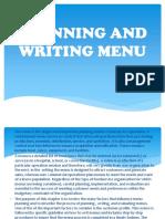 Planing and Writing Menu