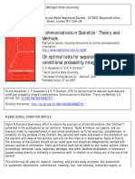 On Optimal Tests for Separate Hypotheses and Conditional Probability Integral Transformations