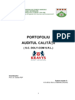 Proiect Auditul Calitatii Sc Doly Com Srl