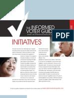 Informed Voter Guide 2010  Initiatives