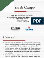 Diario de Campo um instrumento de reflexao